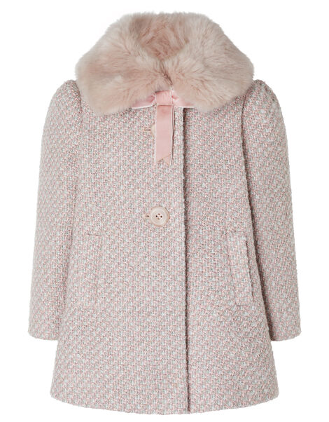 Baby Tweed Coat Pink, Pink (PINK), large