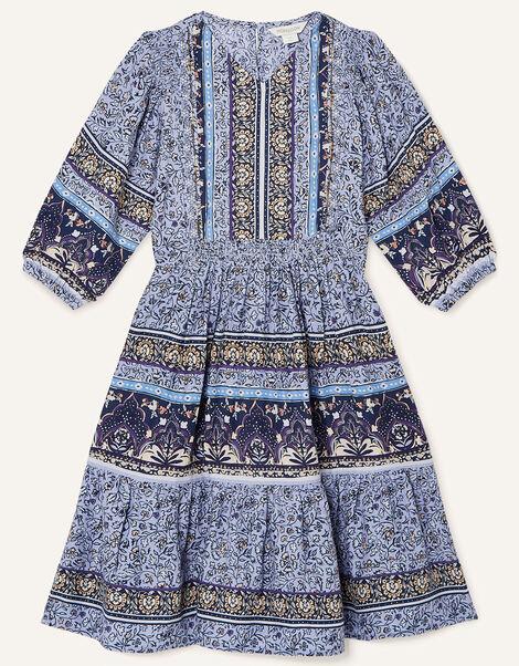 MINI ME Carmel Printed Dress Blue, Blue (BLUE), large