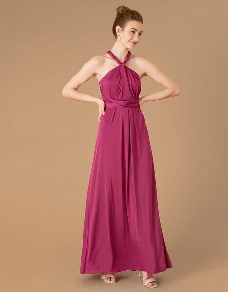 Tallulah Twist Me Tie Me Jersey Bridesmaid Dress Pink, Pink (PINK), large