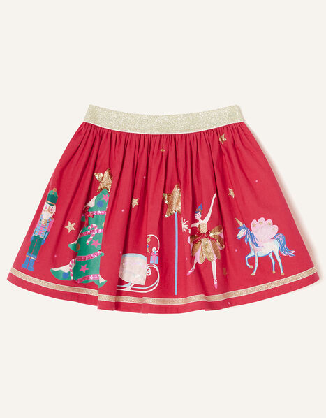 Christmas Applique Skirt Red, Red (RED), large