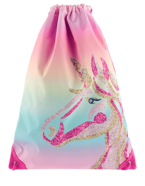 Unicorn Rainbow Drawstring Bag, , large