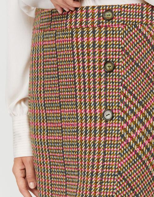 Patsy Check Skirt, Brown, large