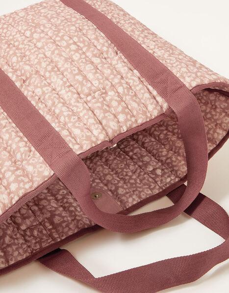 Animal Print Textile Tote, , large
