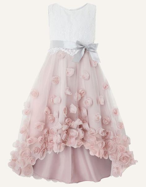 Ianthe 3D Flower Dress Pink, Pink (DUSKY PINK), large