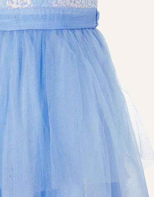 Elise Sequin Tulle Maxi Dress , Blue (BLUE), large