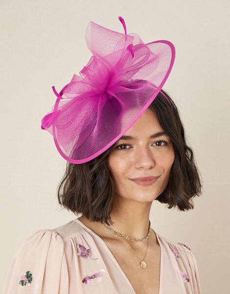 Crin Disc Fascinator Headband Pink, Pink (FUCHSIA), large