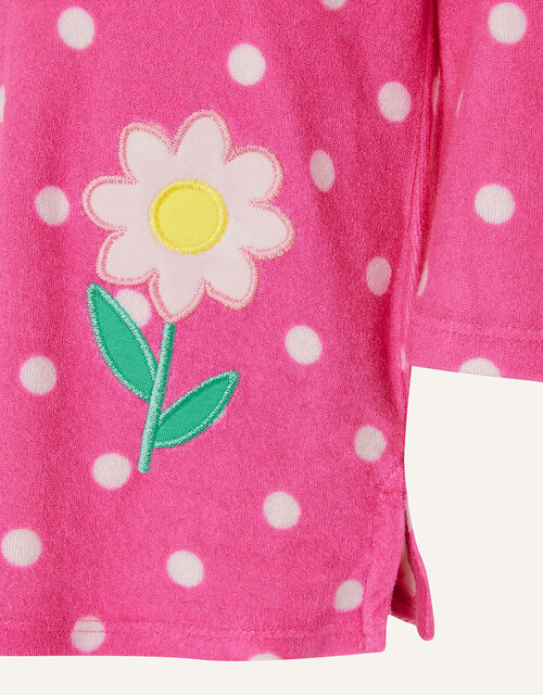 Baby Daisy Spot Towelling Dress , Pink (PINK), large