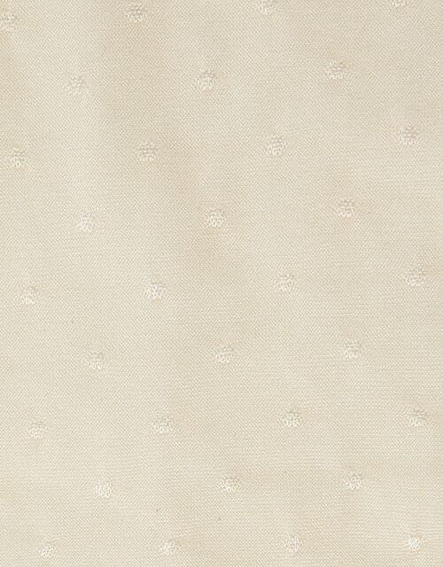 Girl Bridal Spot Tights, Ivory (IVORY), large