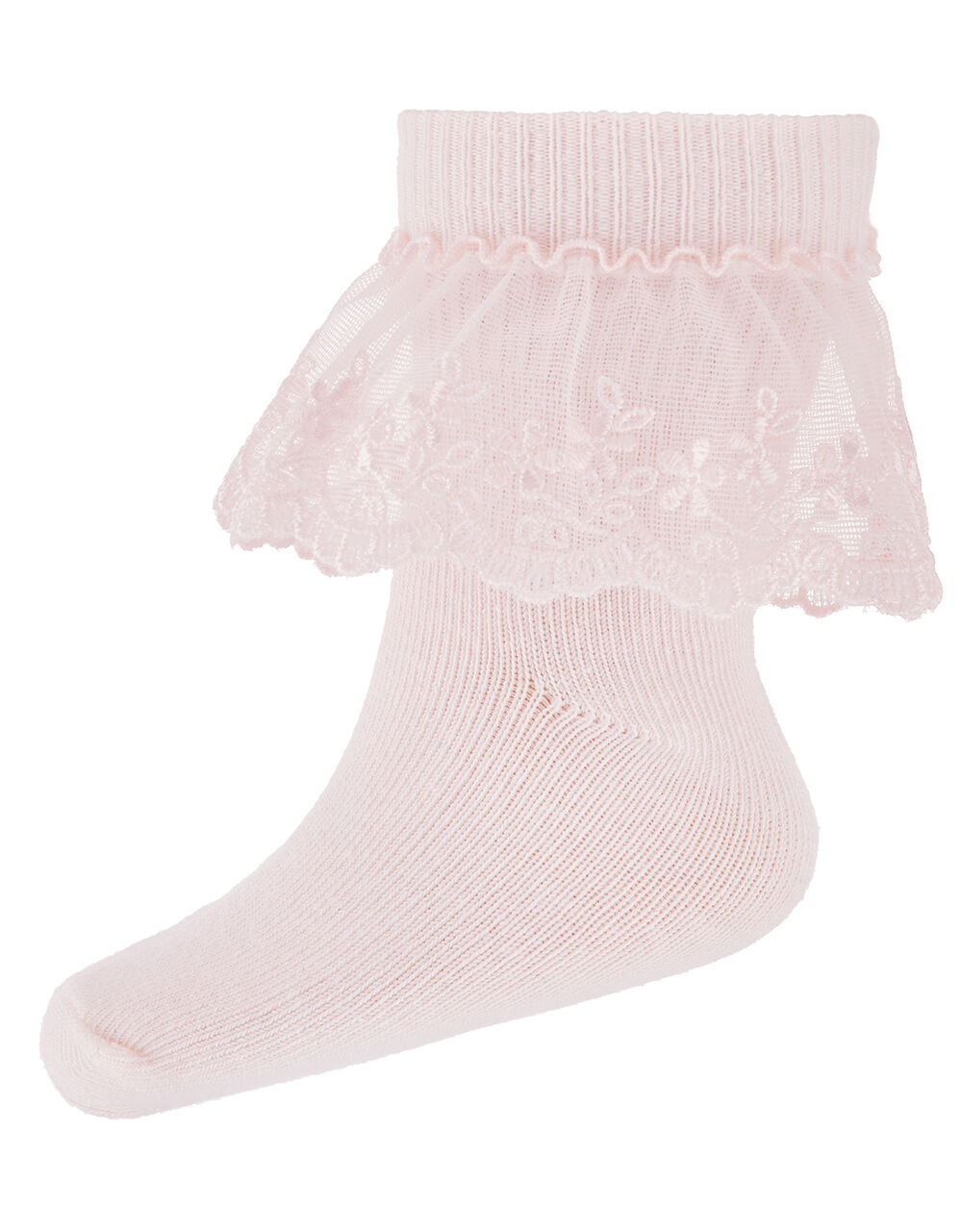 Baby Poppy Lace Socks, Pink (PINK), large
