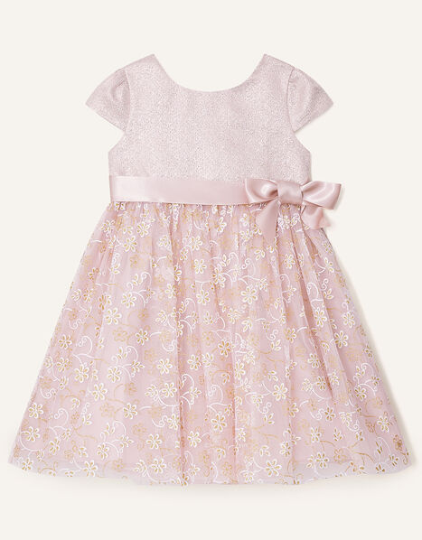 Baby Maisie Glitter Jacquard Dress Pink, Pink (PINK), large