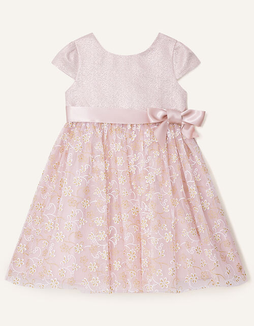 Baby Maisie Glitter Jacquard Dress, Pink (PINK), large