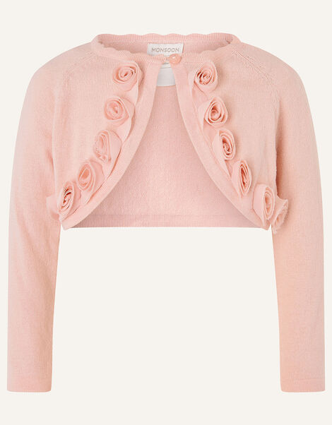 Baby 3D Flower Crop Cardigan Pink, Pink (PINK), large