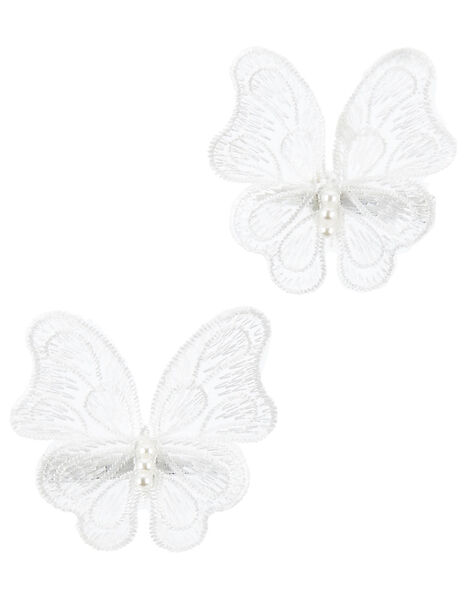Lacey Butterfly Hair Clips, , large
