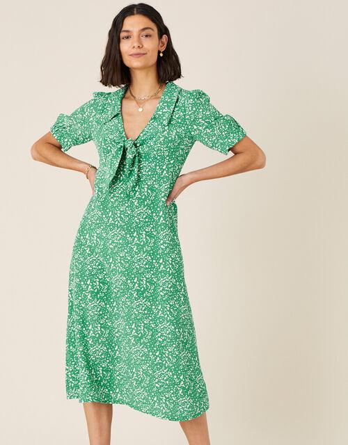 Leila Printed Midi Dress , Green (GREEN), large