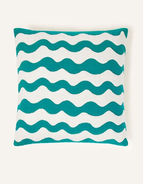 Wave Print Square Cushion, , large