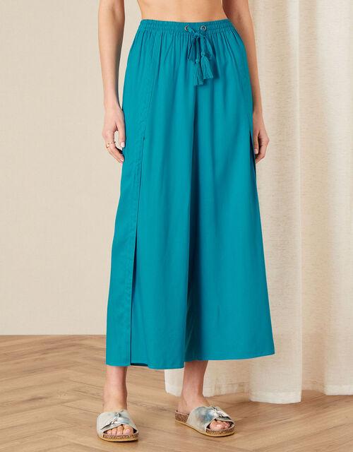 Split Leg Culottes in LENZING™ ECOVERO™, Blue (TURQUOISE), large
