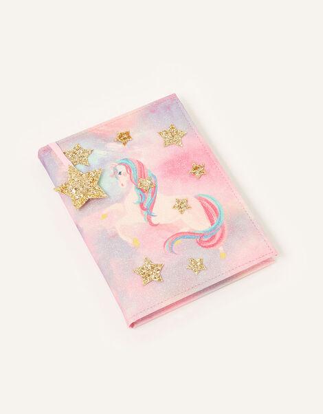 Unicorn and Glitter Star Notebook, , large