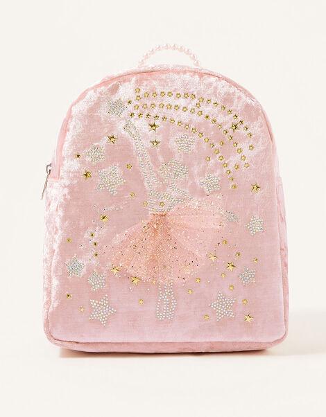 Stardust Ballerina Velvet Backpack, , large