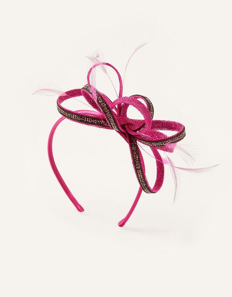 Embellished Loops Fascinator Headband Pink, Pink (FUCHSIA), large