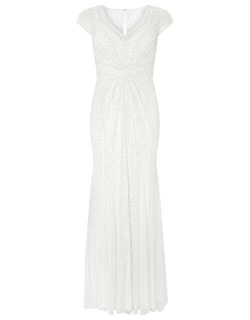 Nora Bridal Embellished Maxi Dress, Ivory (IVORY), large