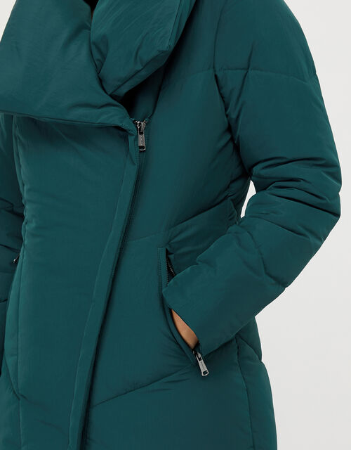 Dhalia Long Duvet Coat, Teal, large