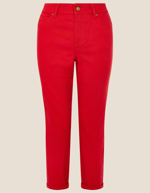 Idabella Cropped Jeans, Red (RED), large