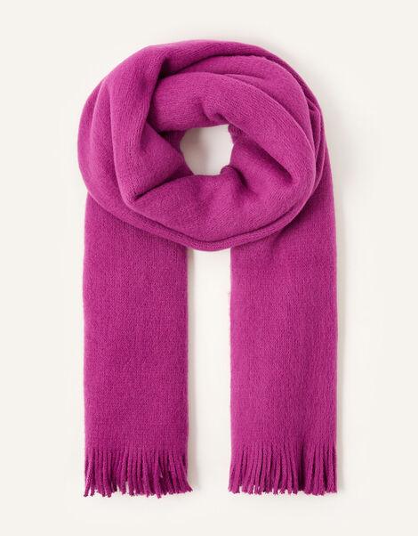 Midweight Tassel Scarf Pink, Pink (PINK), large