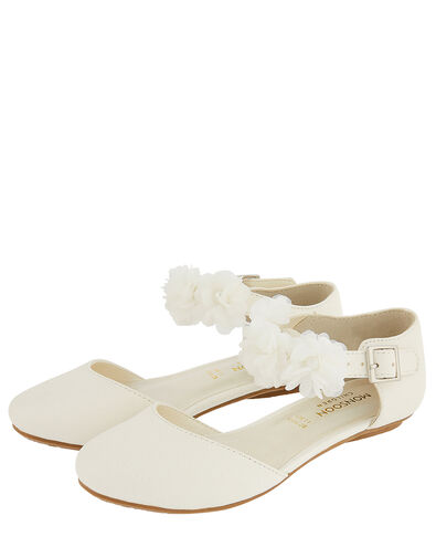 Corsage Two-Part Flat Shoes Ivory, Ivory (IVORY), large