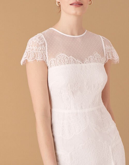 Rebecca Chantilly Lace Bridal Dress, Ivory (IVORY), large