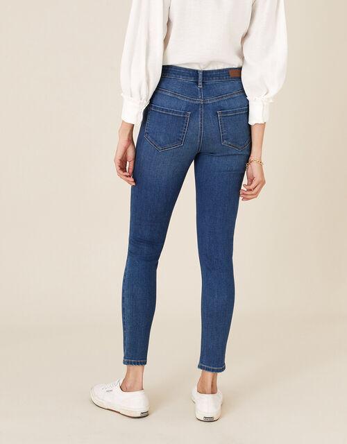 Iris Short-Length Skinny Jeans, Blue (DENIM BLUE), large