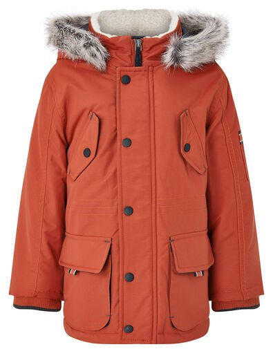 Parka Coat with Hood Red, Red (RED), large