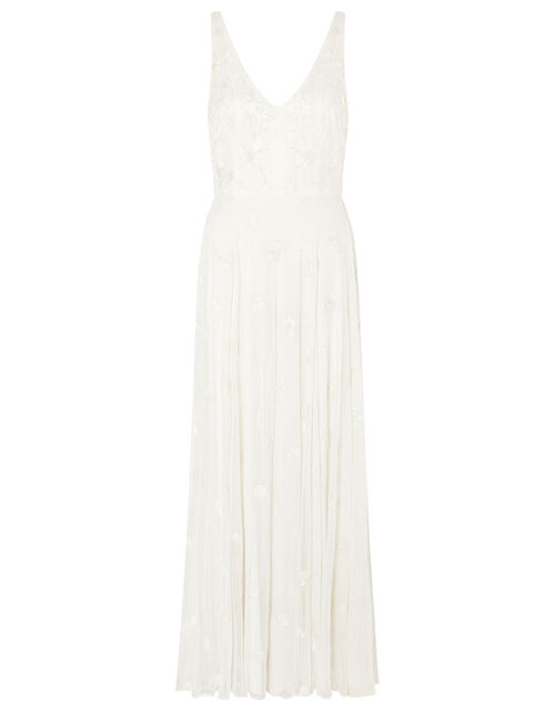 Kate Floral Embroidered Bridal Dress, Ivory (IVORY), large