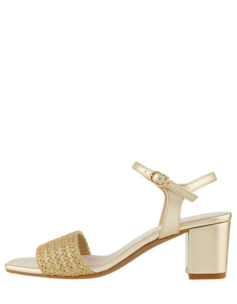 Olive Metallic Occasion Heeled Sandals Gold, Gold (GOLD), large