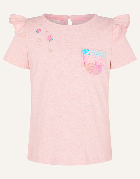 Sequin Pocket T-Shirt Pink, Pink (PINK), large
