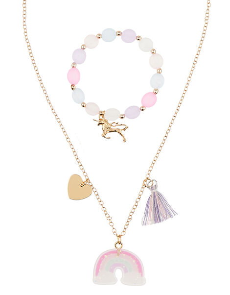 Over the Rainbow Necklace and Bracelet Set, , large