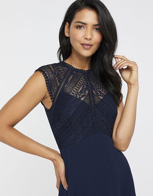Lolita Lace Midi Dress, Blue (NAVY), large