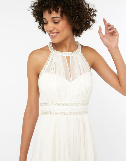 Eleanor Embellished Grecian Wedding Dress, Ivory (IVORY), large