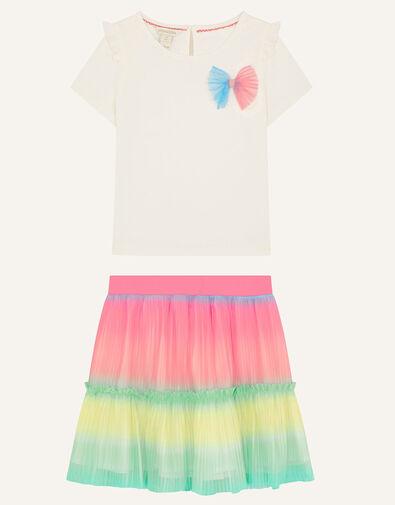 Rainbow Top and Skirt Set Multi, Multi (MULTI), large