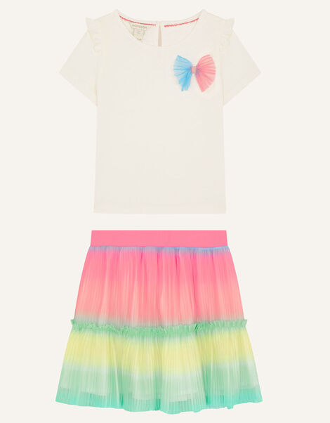 Rainbow Top and Skirt Set Multi, Multi (MULTI), large