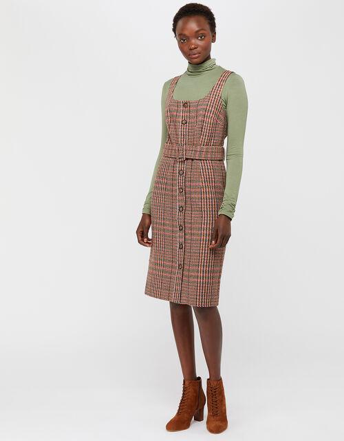 Patsy Check Dress, Brown (BROWN), large