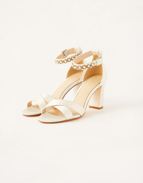Farah Embellished Bridal Sandals Ivory, Ivory (IVORY), large