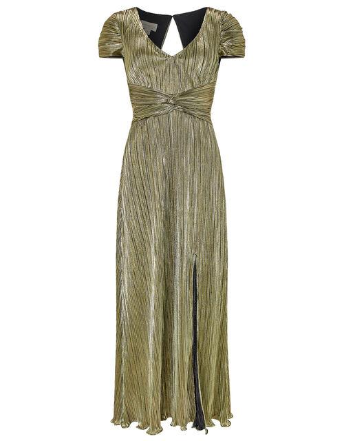 Loreen Lame Maxi Dress, Gold, large
