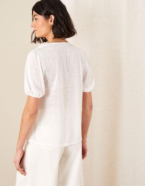 Leandra Ruffle Collar Jersey Blouse Ivory, Ivory (IVORY), large