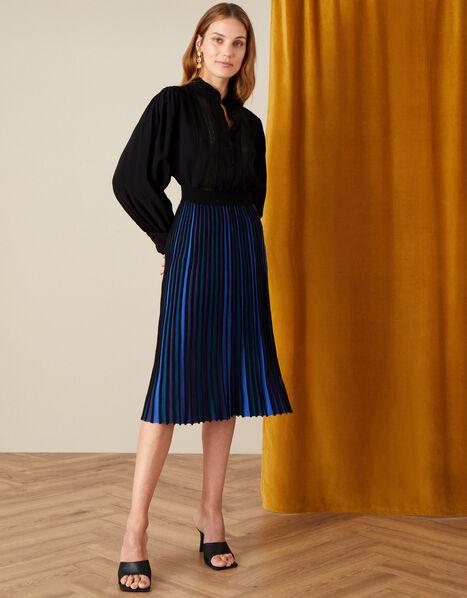 Ceiros Colourblock Pleated Skirt Teal, Teal (TEAL), large