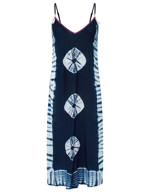 Kali Tie Dye Dress in LENZING™ ECOVERO™, Blue (NAVY), large