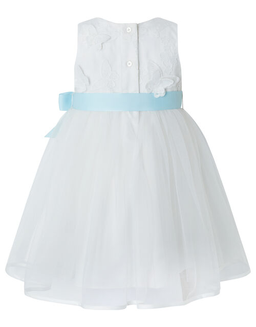 Baby Butterfly Mesh Occasion Dress, Ivory (IVORY), large