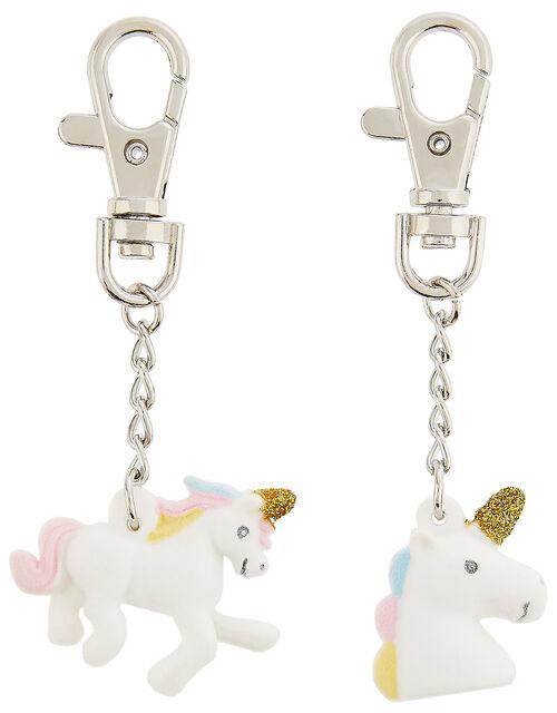 Unicorn Tear-and-Share Key Charms, , large