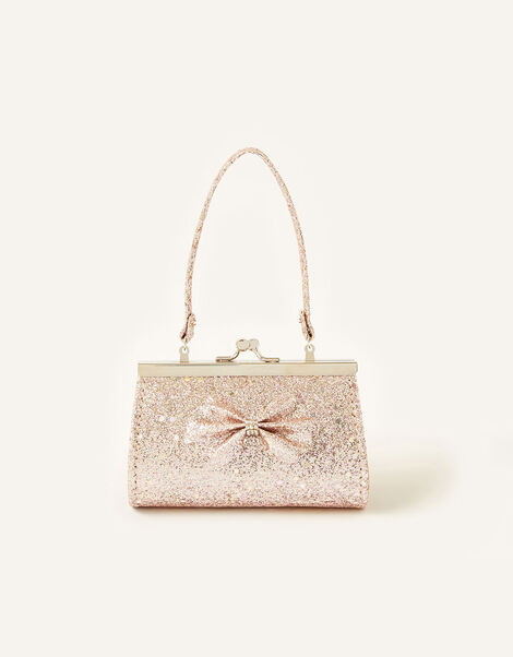 Scallop Glitter Bow Bag , , large