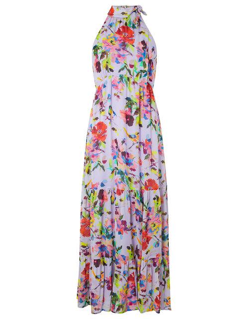 Helen Dealtry Brynn Floral Midaxi Dress, Purple (LILAC), large