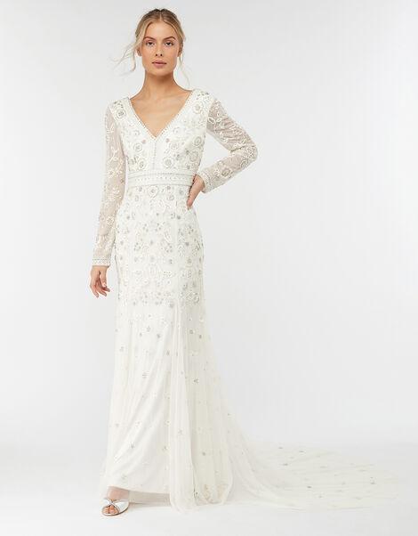 Elizabeth Embellished Wedding Dress Ivory, Ivory (IVORY), large